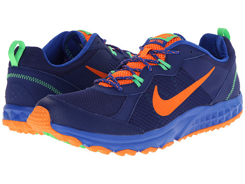 Nike - Wild Trail (Deep Royal Blue/Lyon Blue/Poison Green/Total Orange) Men