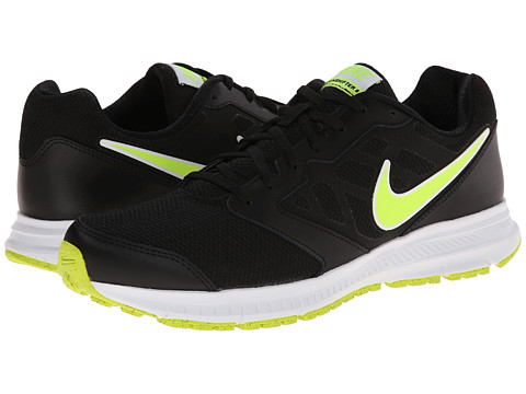 Nike - Downshifter 6 (Black/Volt) Men's Running Shoes