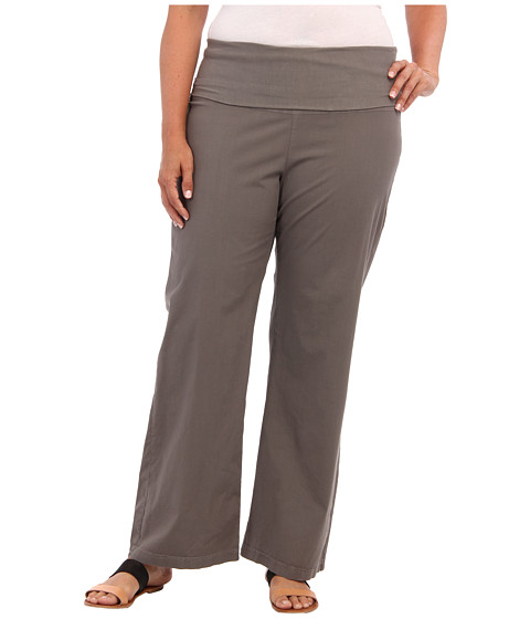 XCVI Plus Size - Plus Size Fold-Over Palazzo (Moonbeam) Women's Casual Pants