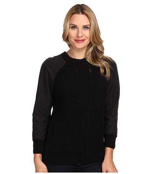 Calvin Klein Jeans - 7GG Traveling Rib Sweater (Black) Women's Sweater