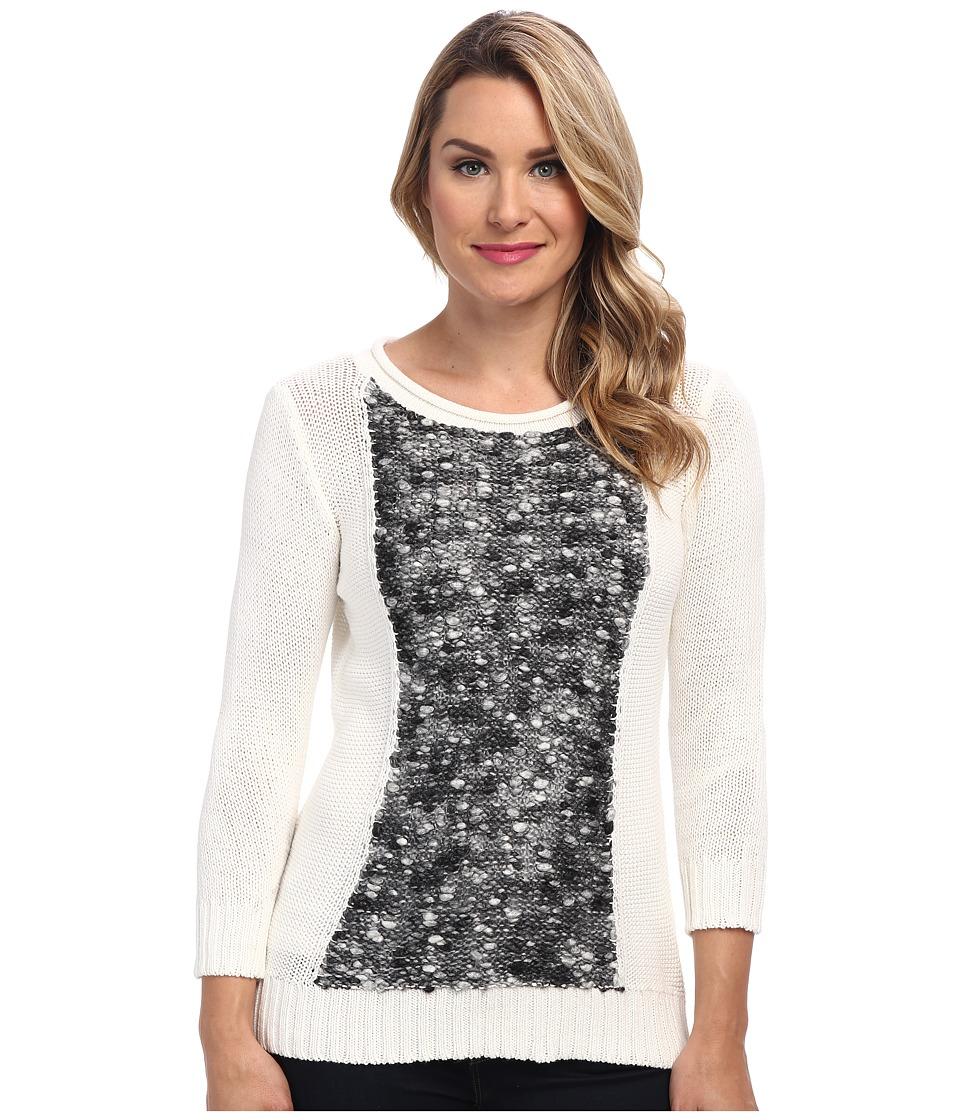 Calvin Klein Jeans - Mixed Media Popcorn Stitch Sweater (Gardenia) Women