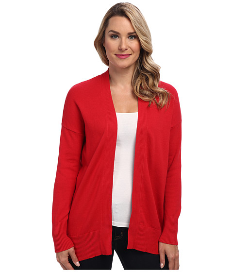 Calvin Klein Jeans - 9GG L/S Open Cardigan (Red Alert) Women's Sweater