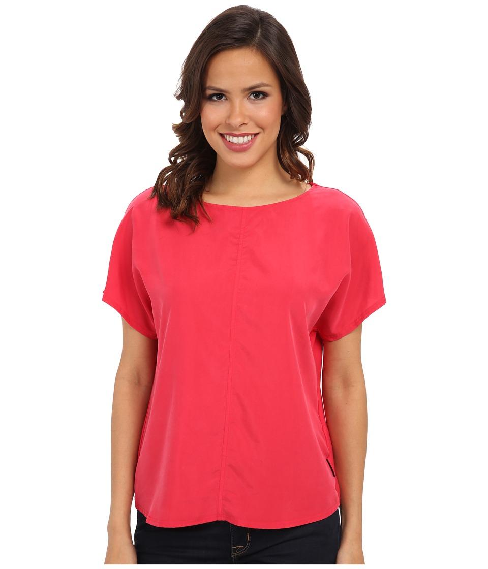 Calvin Klein Jeans - Woven Front Box Tee (Red Alert) Women's T Shirt