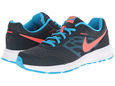 Nike - Air Relentless 4 (Classic Charcoal/Blue Lagoon/White/Hot Lava) Women