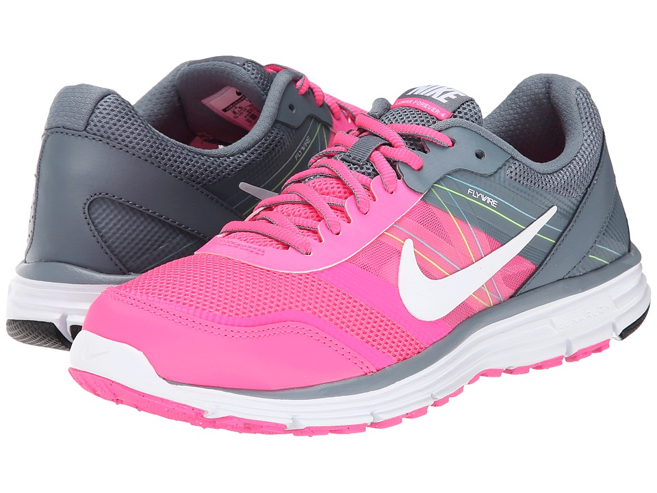 Nike - Lunar Forever 4 (Pink Pow/Blue Graphite/Volt/White) Women's Running Shoes