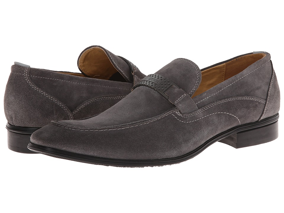 Kenneth Cole Reaction - Old West (Grey Suede) Men's Slip-on Dress Shoes