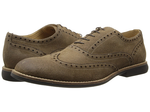 Kenneth Cole Reaction - Why I Oughta (Taupe Suede) Men's Lace Up Wing Tip Shoes