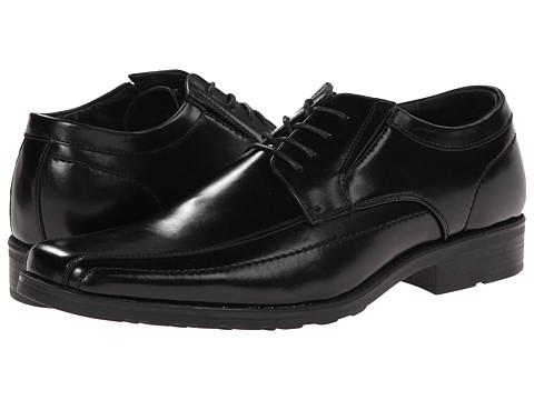 Kenneth Cole Reaction - Slick Fellow (Black Leather) Men's Plain Toe Shoes