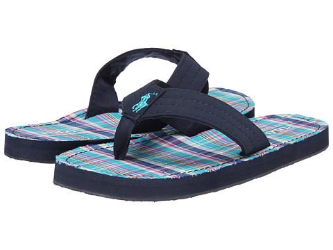Polo Ralph Lauren Kids - Theo (Big Kid) (Navy Sportbuck/Turquoise Multi Plaid) Kids Shoes