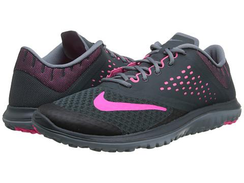 Nike - FS Lite Run 2 (Classic Charcoal/Blue Graphite/Pink Pow) Women