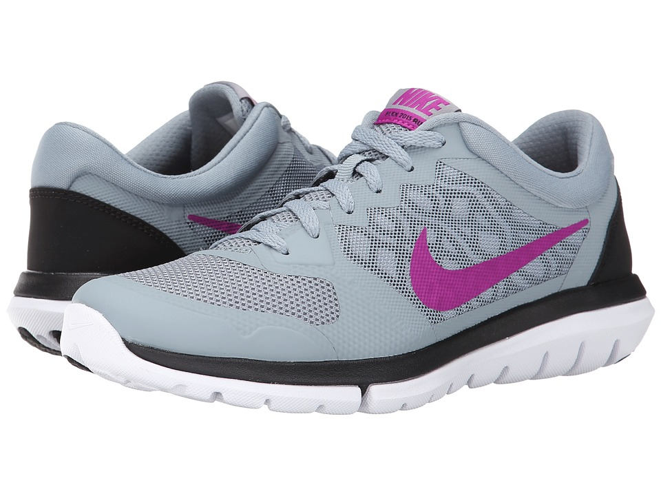 Nike - Flex 2015 RUN (Dove Grey/Black/Classic Charcoal/Fuchsia Flash) Women's Running Shoes