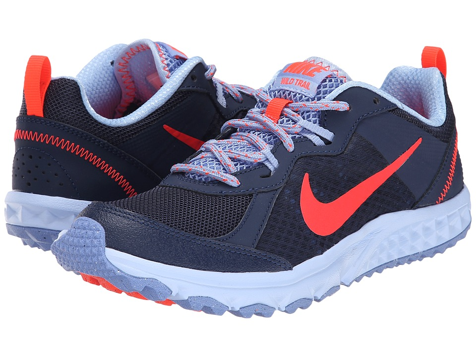 Nike - Wild Trail (Midnight Navy/Aluminum/Polar/Bright Crimson) Women's Running Shoes
