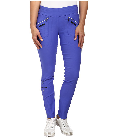 Jamie Sadock - Skinnylicious 41.5 in. Pant with Control Top Mesh Panel (Tahiti Blue) Women's Casual Pants