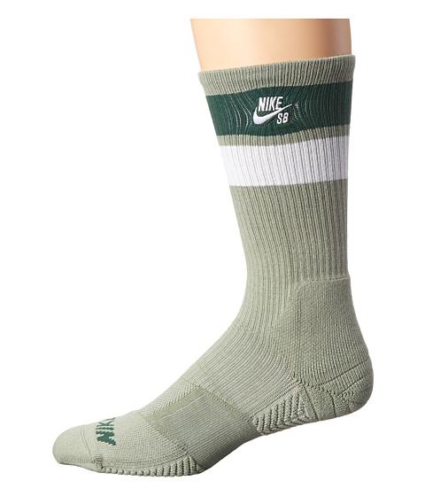 Nike SB - Elite SB Skate Crew Sock (Jade Stone/Gorge Green/White/White) Men