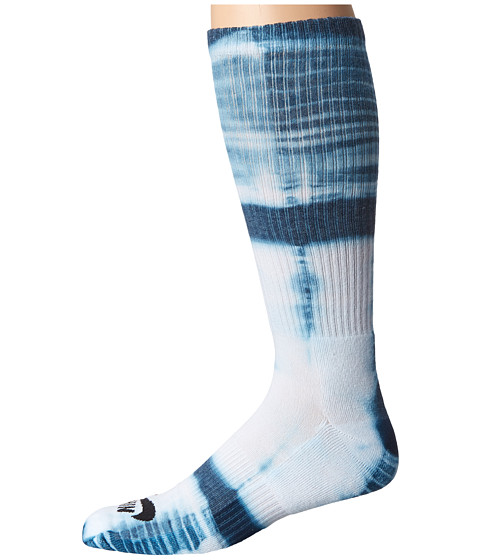 Nike SB - Tie-Dye Dri-Fit Skate Crew (White/Blue Force/Black) Crew Cut Socks Shoes