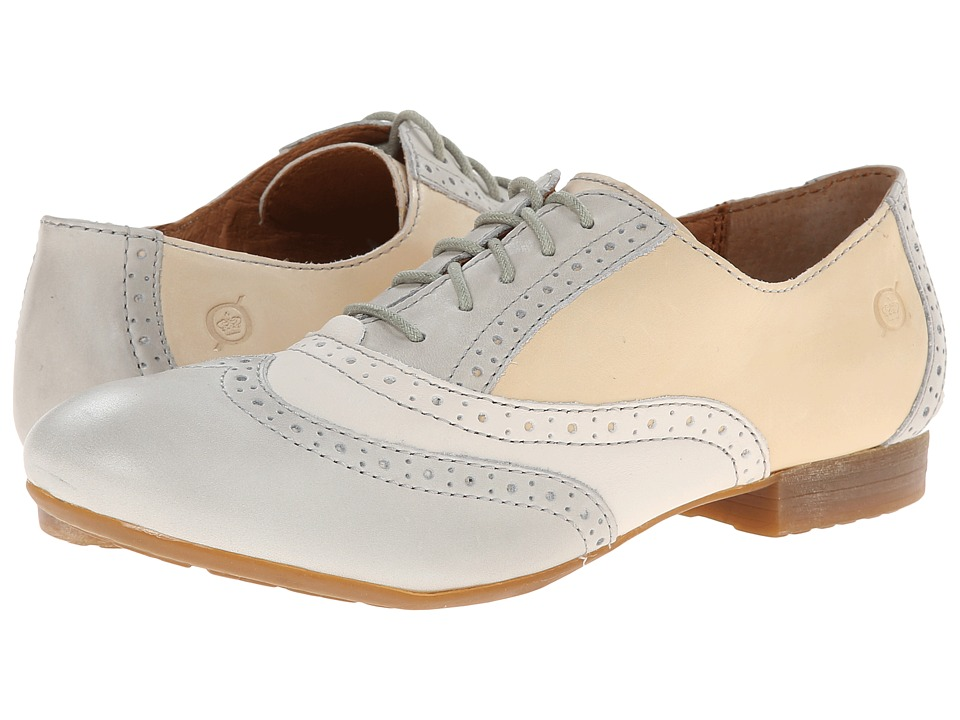 Born - Bristol (Cristal (Light Grey)/Latte (Cream)/Powder (Bone)) Women's Lace up casual Shoes