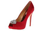 Badgley Mischka - Pettal (Red Satin) - Footwear