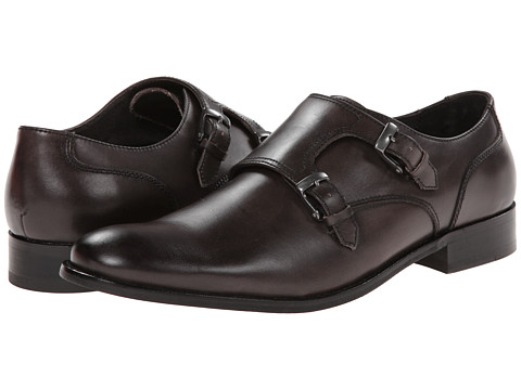 John Varvatos - Star Dress Double Monk (Lead) Men's Monkstrap Shoes