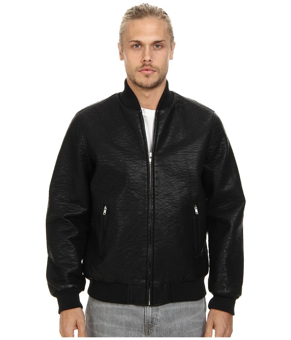 Obey - Bond Vegan Leather Jacket (Black) Men