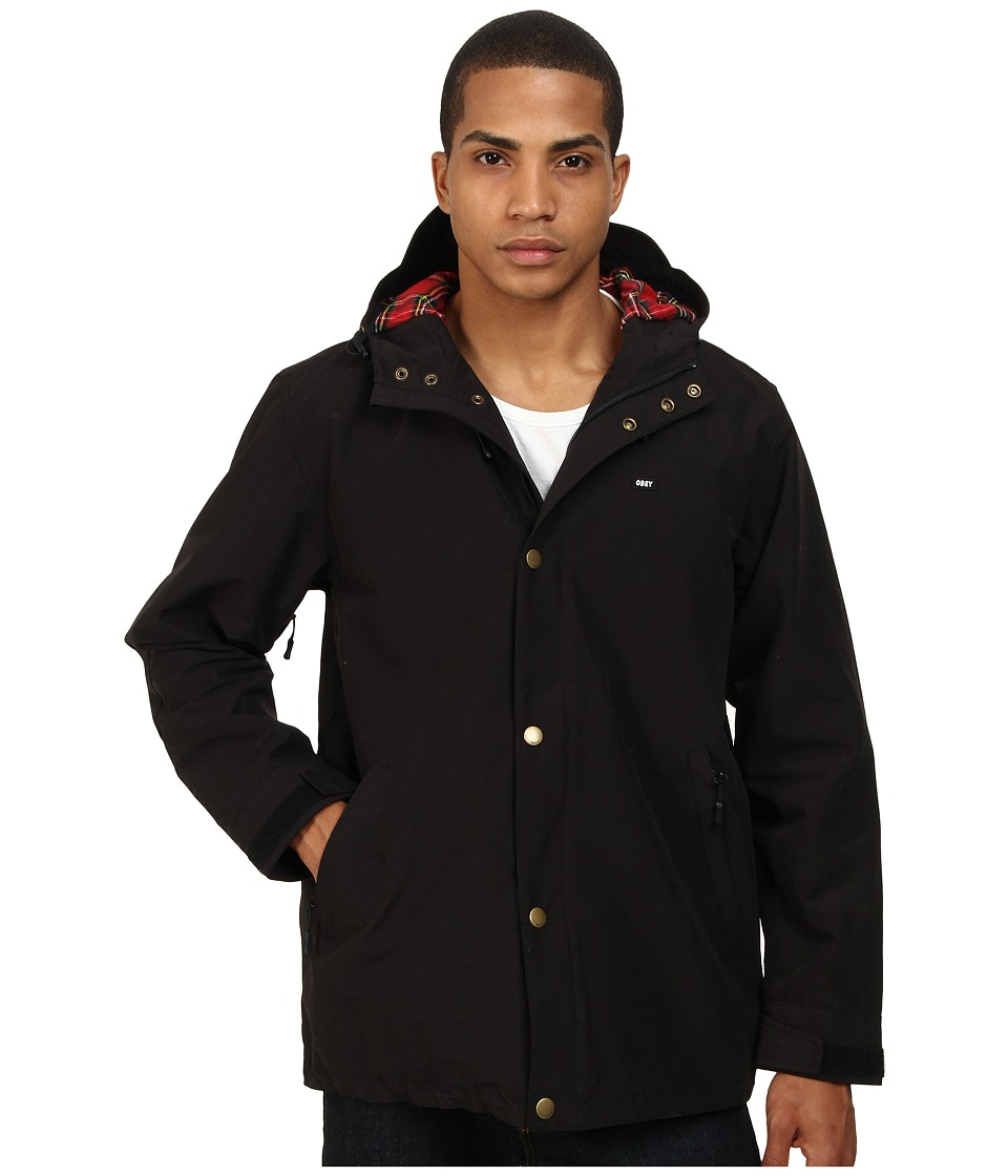 Obey - Legends Parka Jacket (Black) Men's Coat