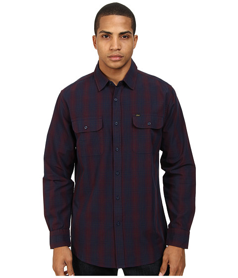 Obey - Bristol L/S Woven (Navy) Men's Long Sleeve Button Up