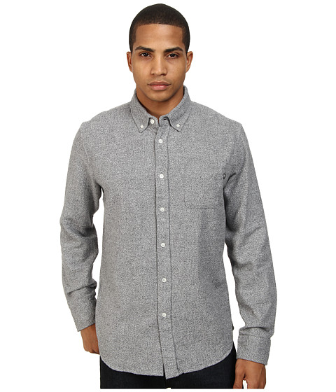 Obey - Eligh L/S Woven (Light Grey) Men