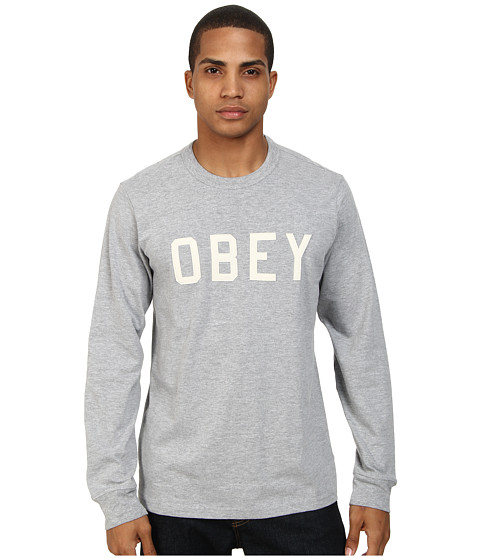 Obey - Bearing L/S Tee (Ash Grey) Men