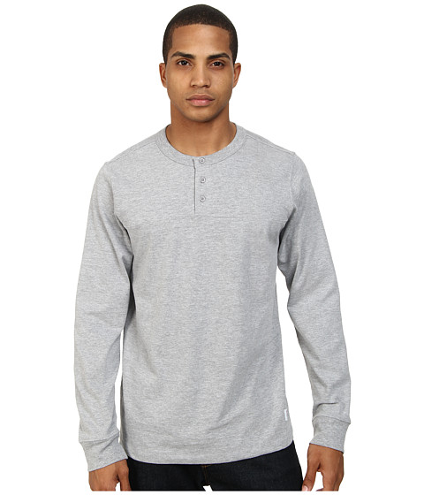 Obey - La Rue L/S Henley (Ash Grey) Men's Long Sleeve Pullover