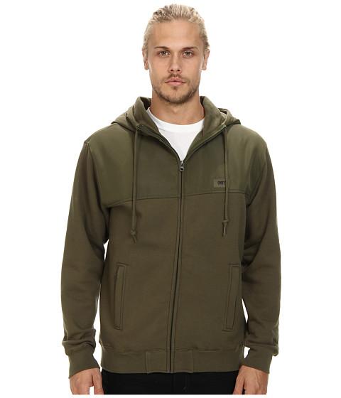 Obey - Summit Zip Hood Fleece (Army) Men