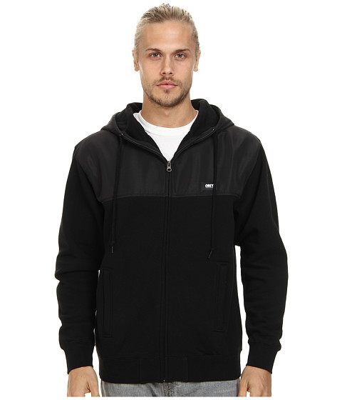 Obey - Summit Zip Hood Fleece (Black) Men