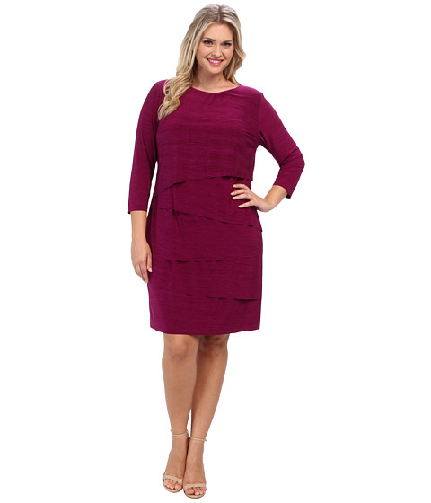 Tahari by ASL Plus - Plus Size Albert - MH Dress (Currant) Women's Dress