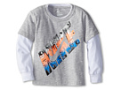 Nike Kids Battle Machine 2 Fer (Toddler) (Grey Heather)