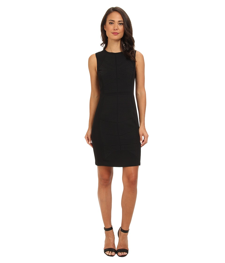 Calvin Klein - Dress w/ Stones (Black) Women's Dress