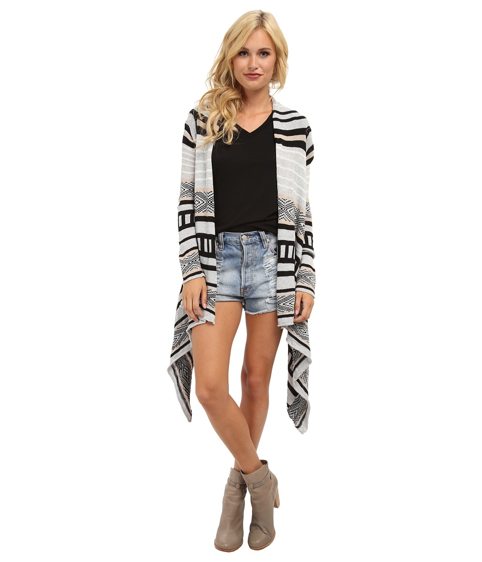 Brigitte Bailey - Jamie Stripe Cardigan (Black Stripe) Women's Sweater