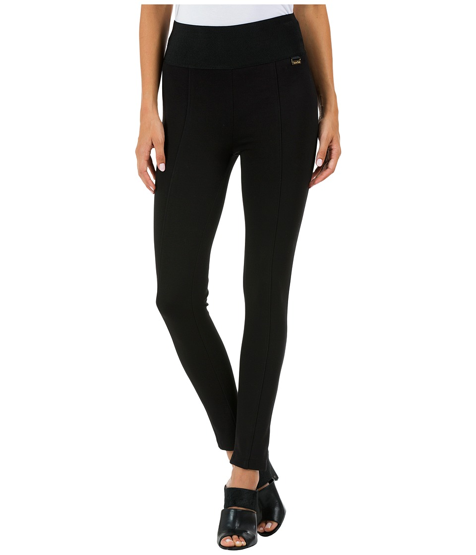 Calvin Klein - Wide Waist Skinny Pant (Black) Women's Casual Pants