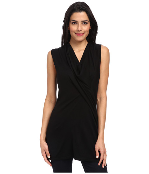 Christin Michaels - Ara Wrap Tank (Black) Women's Sleeveless