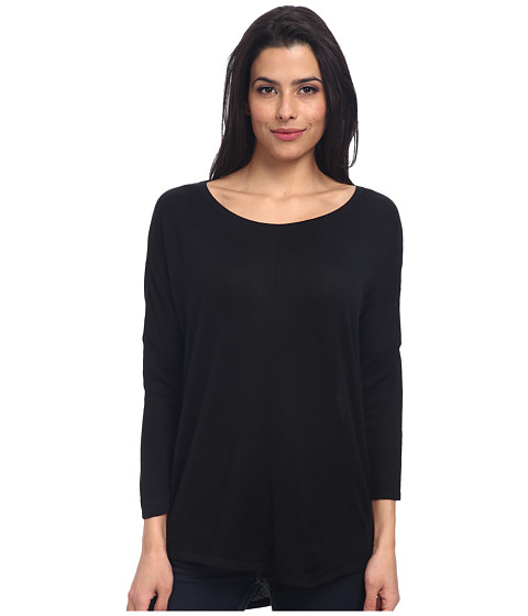 Christin Michaels - Katie 3/4 Sleeve Top (Black) Women's Long Sleeve Pullover