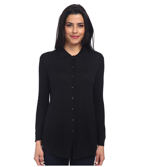 Christin Michaels - Marie 3/4 Sleeve Blouse (Black) Women