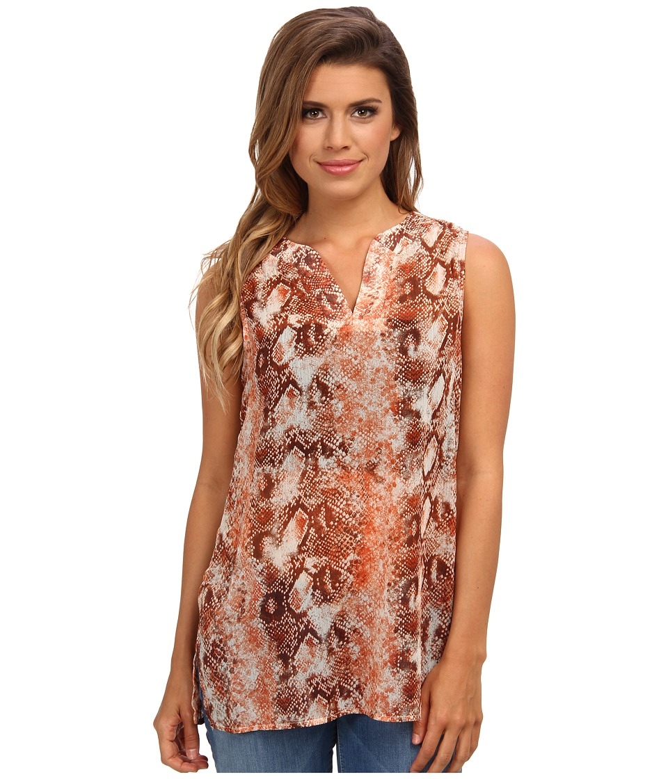 Christin Michaels - Snake Print Tunic (Spice) Women's Blouse
