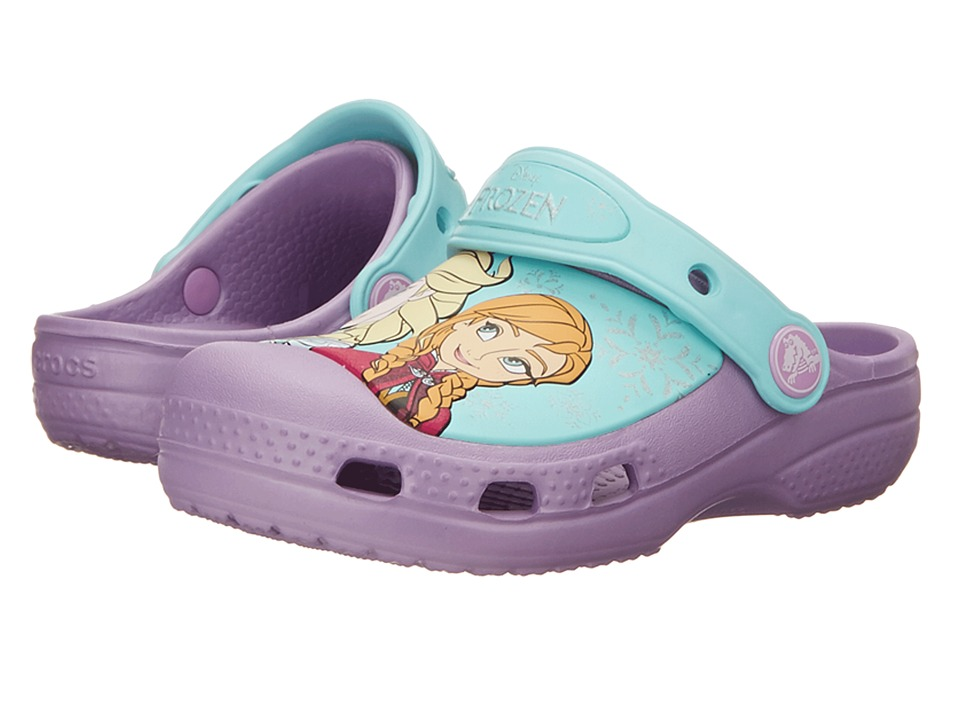 Crocs Kids - CC Frozen Clog (Toddler/Little Kid) (Iris) Girls Shoes