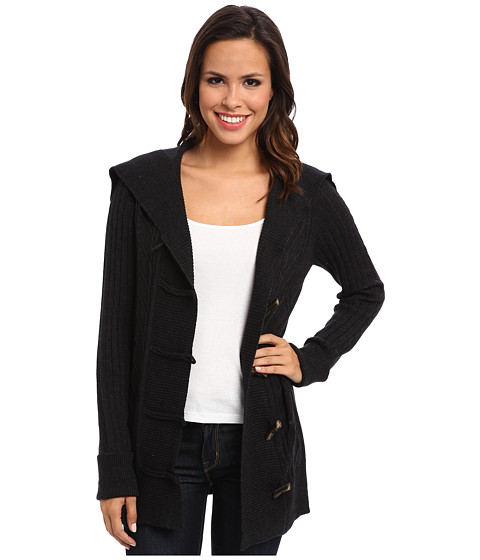 Christin Michaels - Jess Toggle Cardigan (Charcoal) Women's Sweater