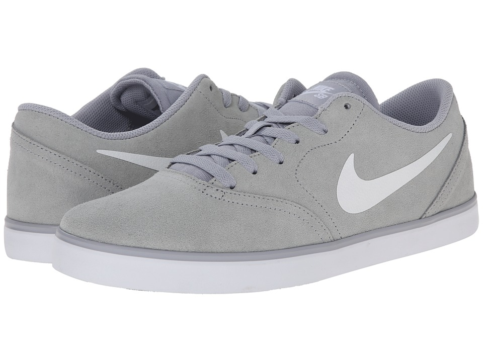 Nike SB - Check (Wolf Grey/Black/White) Men's Skate Shoes