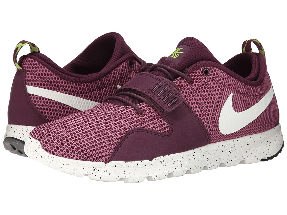 Nike SB - Trainerendor (Merlot/Flash Lime/Sail) Men's Skate Shoes