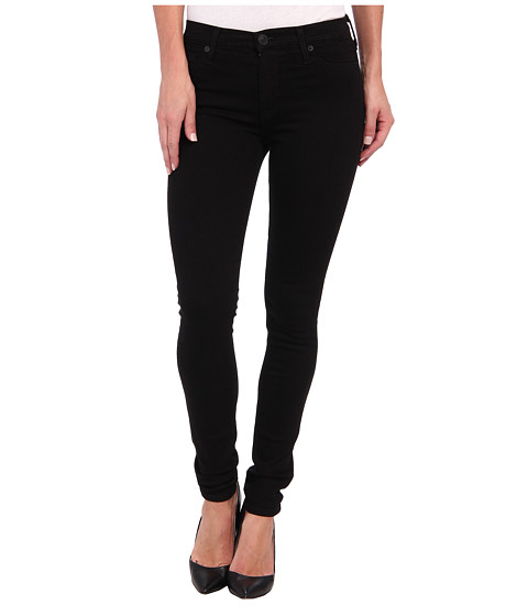 Hudson - Nico Mid-Rise Super Skinny in Black (Black) Women