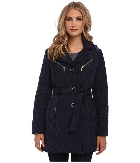 MICHAEL Michael Kors - Belted Hood Quilt (Navy) Women