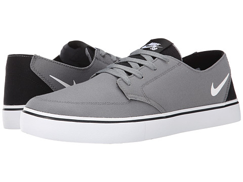 Nike SB - Braata LR Canvas (Cool Grey/Black/White) Men