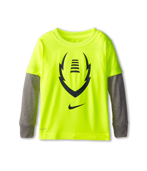 Nike Kids - Dri Fit Football 2 Fer (Toddler) (Volt) Boy's Workout