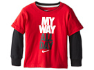 Nike Kids My Way All Day 2 Fer Tee (Toddler) (Gym Red) Boy's T Shirt