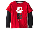 Nike Kids My Way All Day 2 Fer Tee (Little Kids) (Gym Red) Boy's T Shirt
