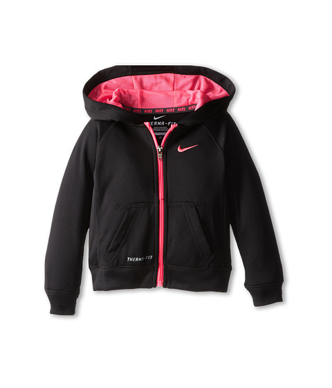 Nike Kids - KO Full-Zip Hoodie (Toddler) (Black) Girl's Workout